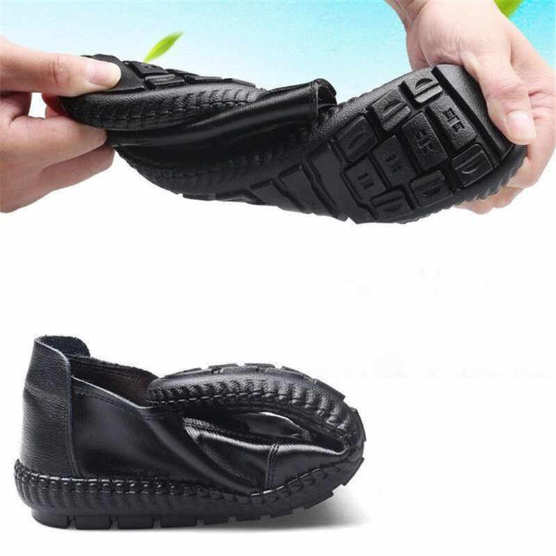 Italyan Erkek Ayakkabı Rahat Lüks Marka Yaz erkek mokasen ayakkabıları Deri Moccasins Hafif Nefes Erkekler üzerinde Kayma Mokasen Ayakkabı 2019