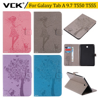 VCK Pattern TPU Flip Leather For Samsung Galaxy Tab A 9 7 Inch T550 T555 Case