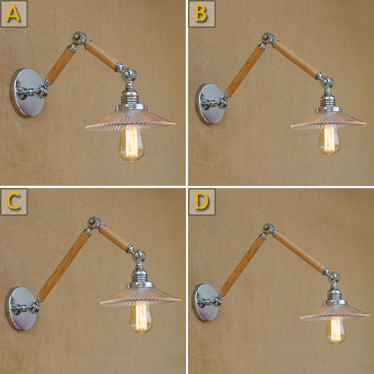Retro Style Loft Industrial wooden Wall Lamps Lights for Indoor Lighting Decor Edison Vintage Wall Lamp Arandela Lampara ParedRetro Style Loft Industrial wooden Wall Lamps Lights for Indoor Lighting Decor Edison Vintage Wall Lamp Arandela Lampara Pared