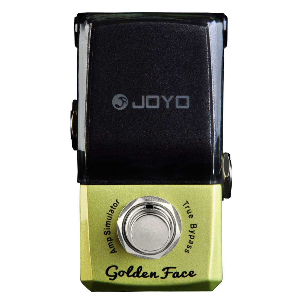JOYO JF-308 Golden Face Amp Simulator Mini Electric Guitar Effect Pedal with Knob Guard True Bypass joyo ironman orange juice amp simulator electric guitar effect pedal true bypass jf 310 with free 3m cable