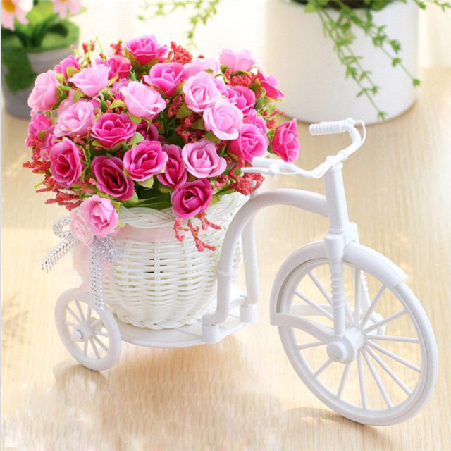 Artificial flowers silk flowers roses plastic rattan floats home accessories ornaments fake flowers display home decoration