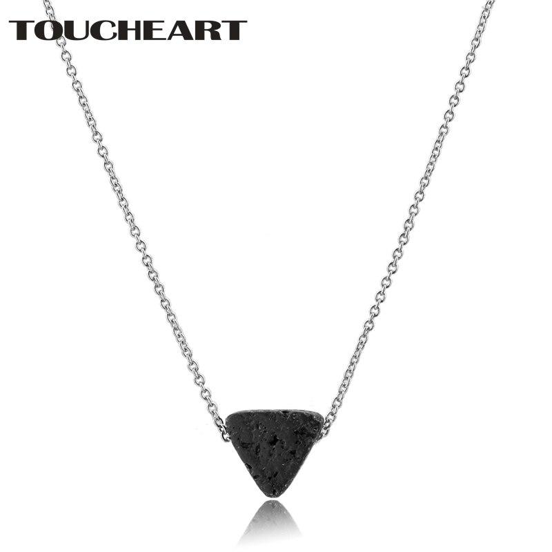 Купить toucheart треугольные лавовые бусины ожерелья и подвески длинные