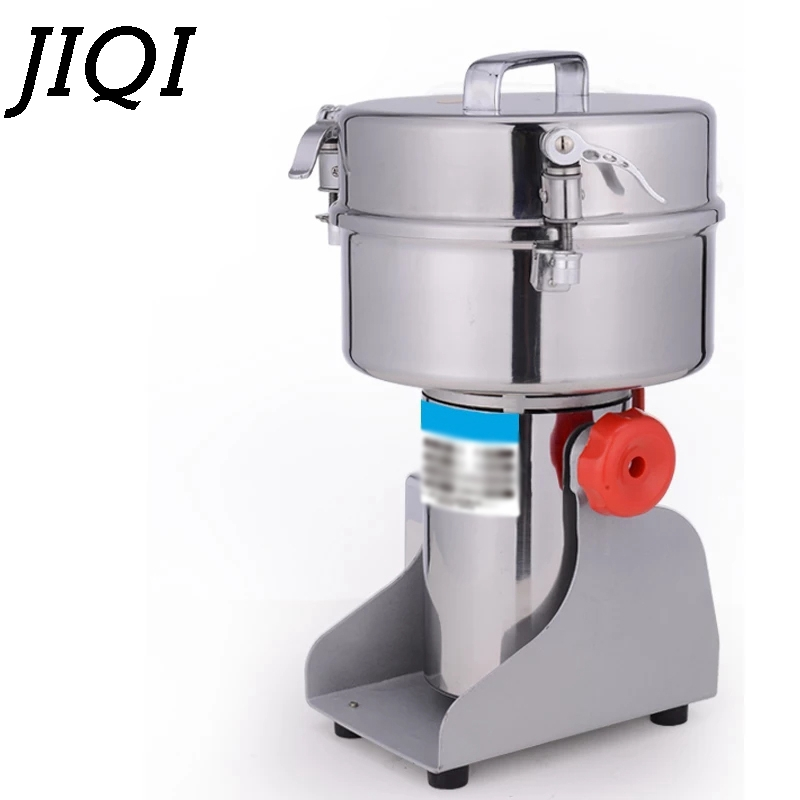 Jiqi 2000グラム電動グラインダー穀物ナッツ豆ミル乾式粉砕機中国医学ハーブクラッシャーパウダーシュレッダー110ボルト220ボルトスパイスグラインダー機