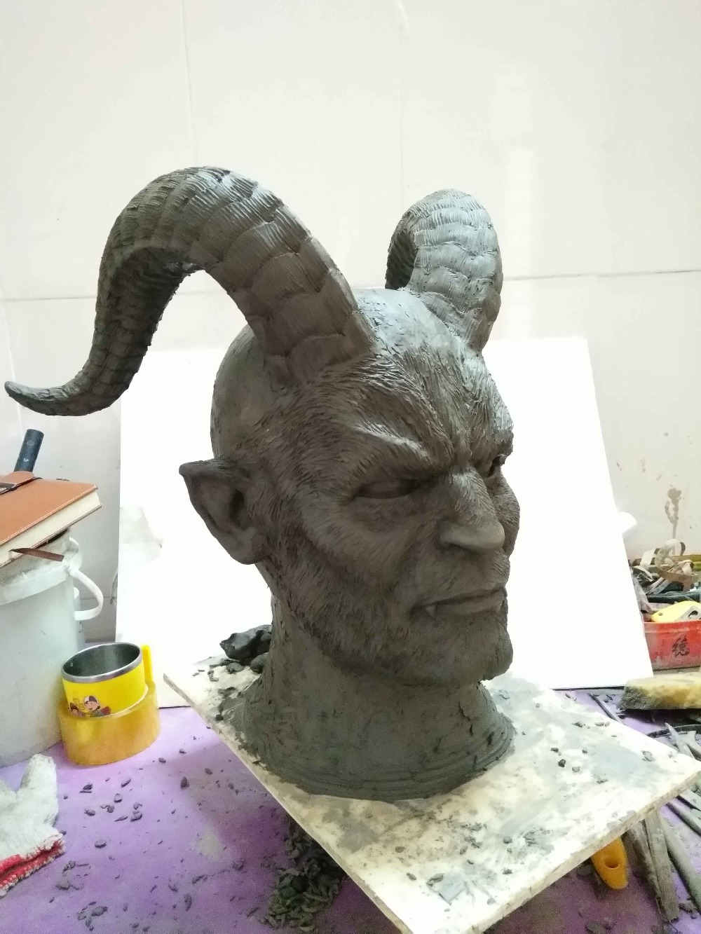 2017 Hot Disney Movie Beauty and the Beast Adam Mask Cosplay Horror Mask Latex Lion Helmet Halloween Party (4)