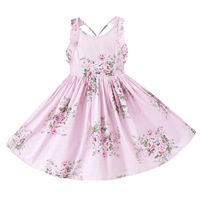AliExpress Explosive Models Europe And The United States Selling New Australian Strap Cotton Girls Printed Dress