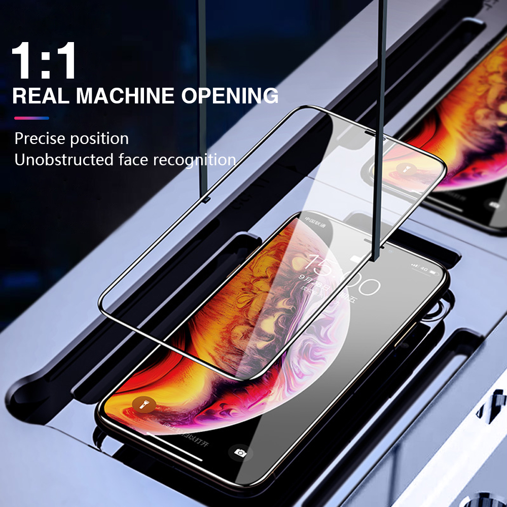 Image 3 - 100 PCS 9D Protective Glass For Iphone X Xs Max Xr 6 S 6s 8 Plus Case Screen Protector On The I Phone 7 8Plus Film Tempered Glas-in Phone Screen Protectors from Cellphones & Telecommunications