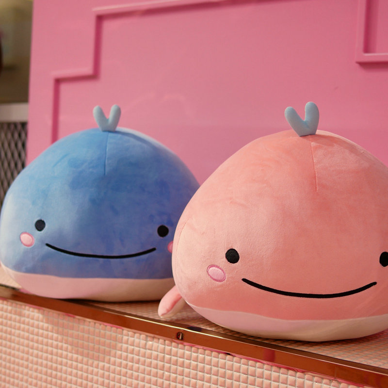 Cute Down cotton whale plush toy super soft dolphin pillow Stuffed toys high quality Aquatic creatures birthday gift
