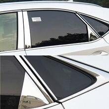 цена на JY SUS304 Stainless Steel Window Pillar Garnish Trim Car  Styling Cover Accessories For Lexus NX300H NX200T 2015-2017