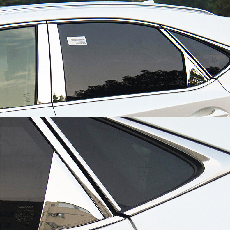 JY SUS304 Stainless Steel Window Pillar Garnish Trim Car Styling Cover Accessories For <font><b>Lexus</b></font> <font><b>NX300H</b></font> NX200T 2015-2017 image