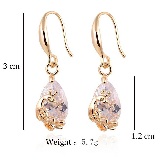 Crystal Statement Gold Color Peacock Earrings
