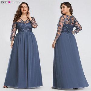Image 3 - Plus Size Mother Of The Bride Dress Ever Pretty EZ07633 Elegant A line Lace Appliques Long Party Gowns 2020 Vestido De Madrinha