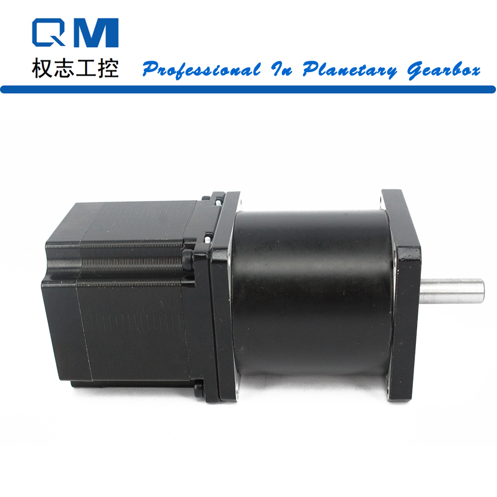 Geared motor planetary reduction gearbox ratio 30:1 nema 23 stepper motor L=54mm cnc robot pump nema23 geared stepping motor ratio 50 1 planetary gear stepper motor l76mm 3a 1 8nm 4leads for cnc router