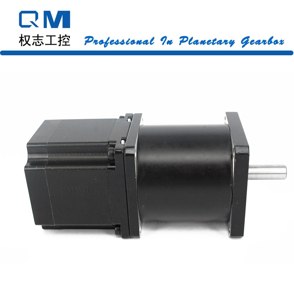 Geared motor planetary reduction gearbox ratio 30:1 nema 23 stepper motor L=54mm cnc robot pump 42mm planetary gearbox geared stepper motor ratio 10 1 nema17 l 63mm 1 5a cnc 3d printer