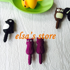Image 2 - 30pcs kawaii gadget mixed anime earphone dust plug to phone 3.5mm jack plug for headphones for iphone sumsang free shipping
