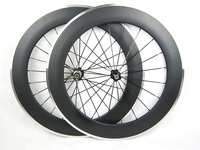 25mm Width Carbon Fiber With Alloy Brake Surface 80mm Bike Depth Wheels Road Bicycle Clincher Wheelset