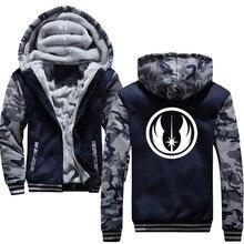 fa6cf6ad938 Star Wars Jedi Order 2018 Winter Thick Hoody Men Teen Wolf Men s Sportswear  Harajuku Plus Size