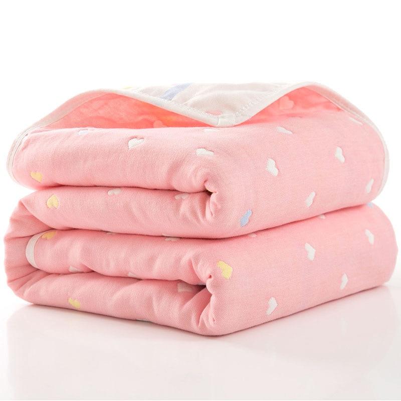 80*80 Six-layer Gauze Bath Towel For Children Baby Blankets Newborn Comforter Baby Baby Quilt