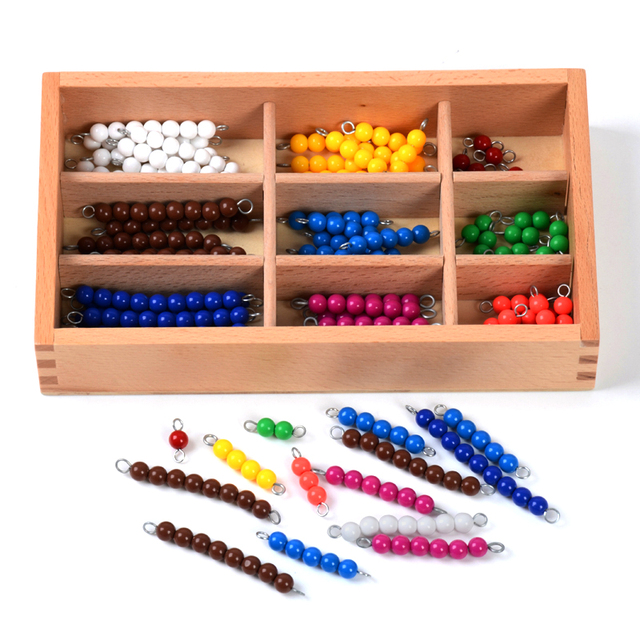 Colorful Montessori Beads for Arithmetic Practice