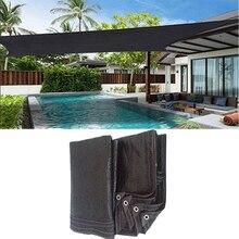 Sun Shade Sail Black HDPE Sunshade Net Sun Shelter Outdoor Garden Sunblock Shade Cloth Patio Cover Anti UV Car Cover 2m 4m 5m 6m