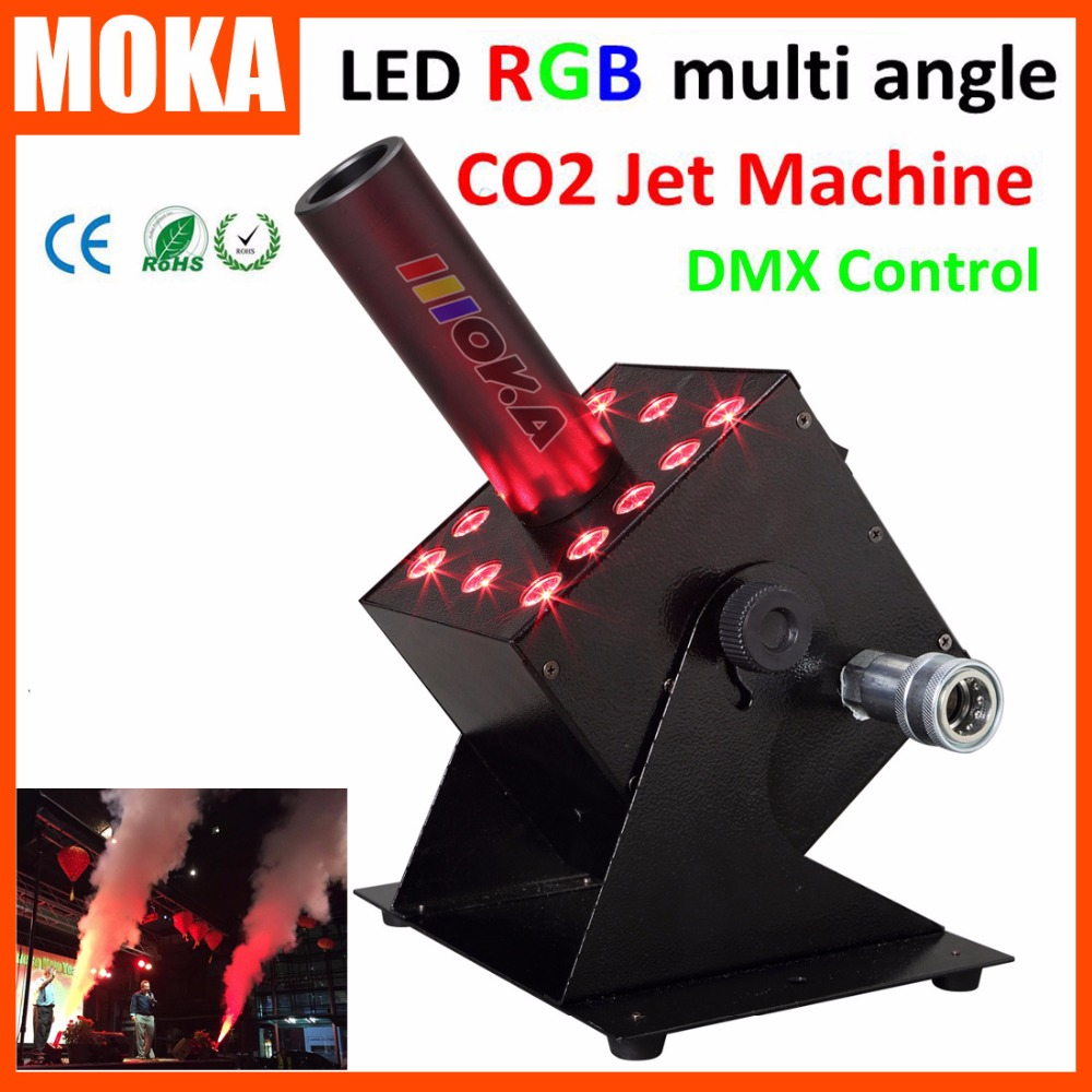 Commercial Lighting Stage Lighting Effect Trend Mark Dmx 512 Colorful Led Rgb 12x3w Co2 Jet Machine Spray Fog Fx Special Effects Co2 Column Jet Pleasant In After-Taste