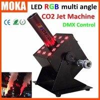 DMX 512 Colorful Led RGB 12x3w CO2 Jet Machine Spray FOG FX Special Effects CO2 Column Jet