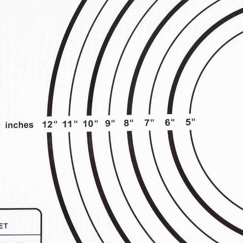 ซิลิโคน Nonstick Pastry Mat กับวัด 60X40 ซม.เบเกอรี่เคาน์เตอร์แบริ่งลูกกลิ้ง Mat Liner เตาอบ Fondant/ crust Mat Tart