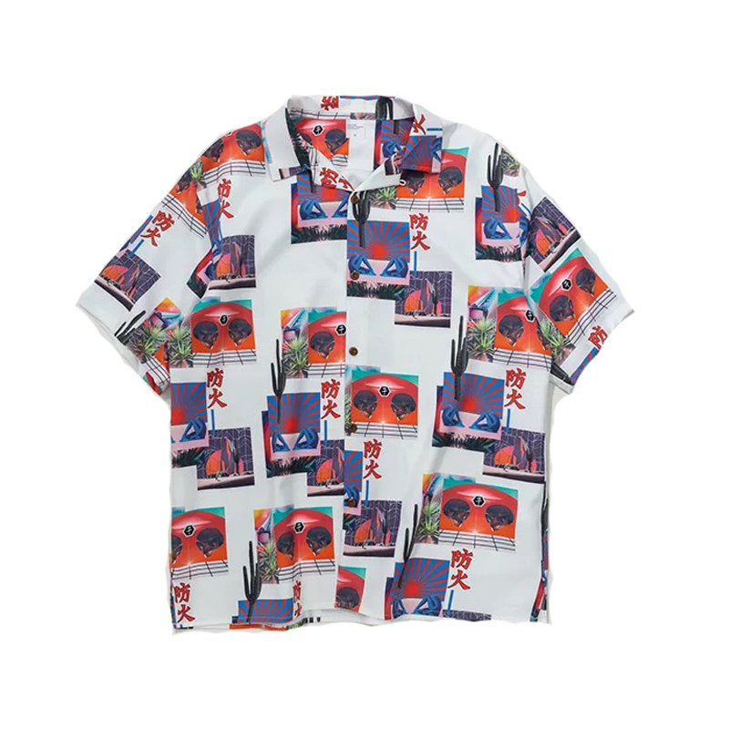 Hfnf Hawaiian Youth Harajuku Shirts Printed Floral Summer Floral Rapper Beach Shirts For Men Hip Hop Streetwear Leisure Men