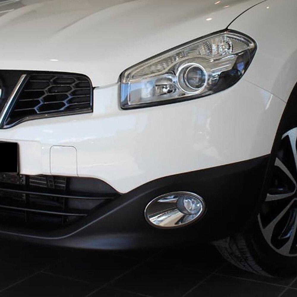 Für Nissan Qashqai + 2/Dualis Ti Facelift 2010 2011 2012 2013 Chrome Front Foglight Nebel Licht Abdeckung Trim auto Schützen Zubehör