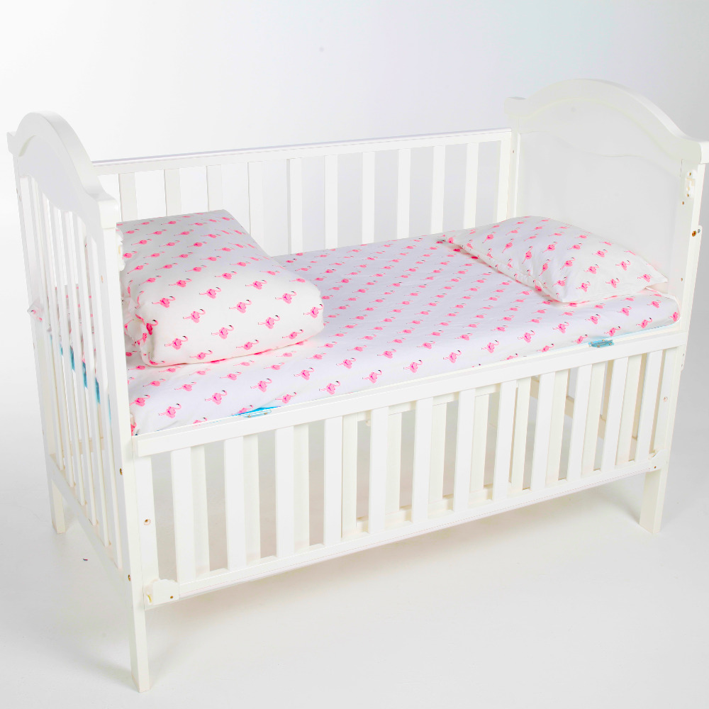 Baby bed in nigeria - Ainaan 3 Pcs 100 Cotton Crib Bed Linen Kit Flamingo For Girls Baby Bedding Set