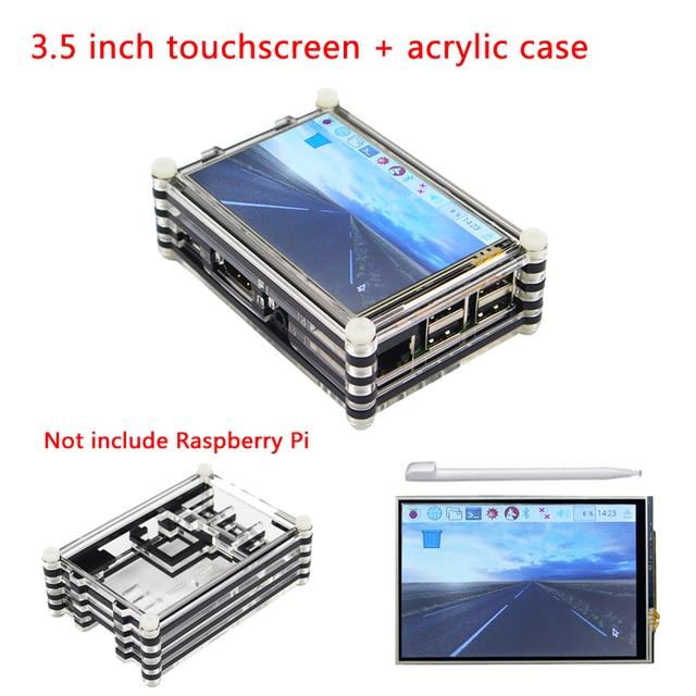 Raspberry Pi 3 modèle B 3.5 pouces écran tactile 480*320 TFT LCD + 9 couches boîtier acrylique pour Raspberry Pi 3/2