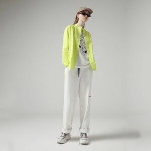 Image 3 - Toyouth Moda Donna Camicette 2019 Autunno a Maniche Lunghe Stile Boyfriend Casual Del Collare Del Basamento di Colore Solido Streetwear Camicetta Camicia