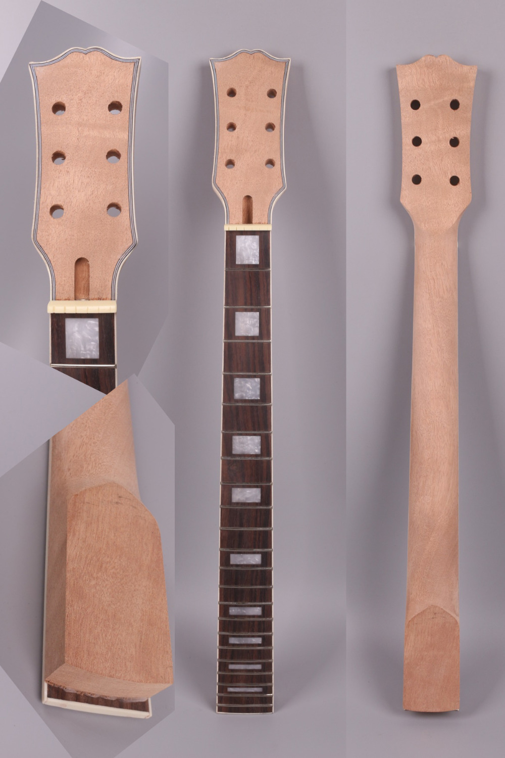 unfinishede electric guitar neck 22 fret Locking nut 628mm 24.75 inch mahogany made and rosewood fingerboard 007# unfinishede electric guitar neck 22 fret locking nut 628mm mahogany made and rosewood fingerboard