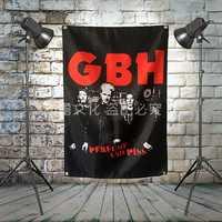 GBH banda de Rock grande banderines de tela banderines de pared pinturas Retro póster música fiesta decoración de fondo