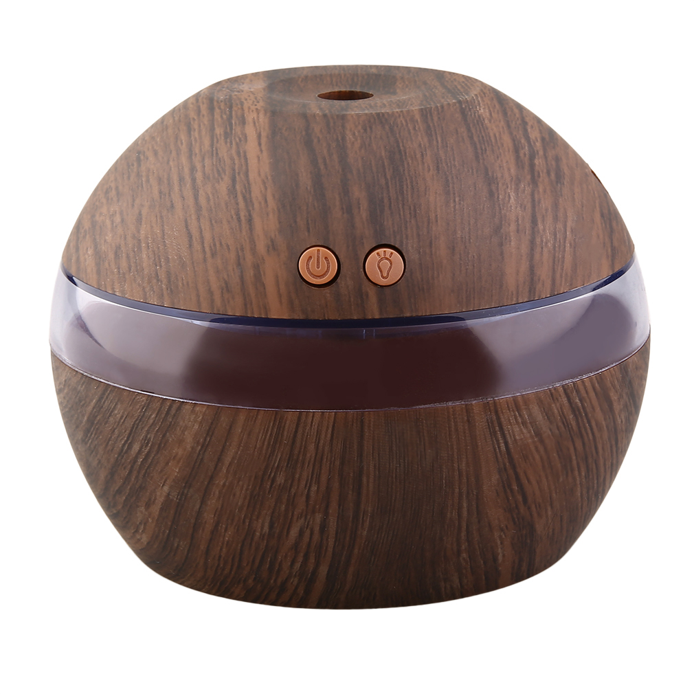 300ML Mini Air USB Ultrasonic Humidifier wood grain Aroma Diffuser Essential Oil Diffuser Aromatherapy mist maker with LED Light easehold 300ml air humidifier essential oil diffuser wood grain aromatherapy diffusers aroma mist maker 24v led light for home