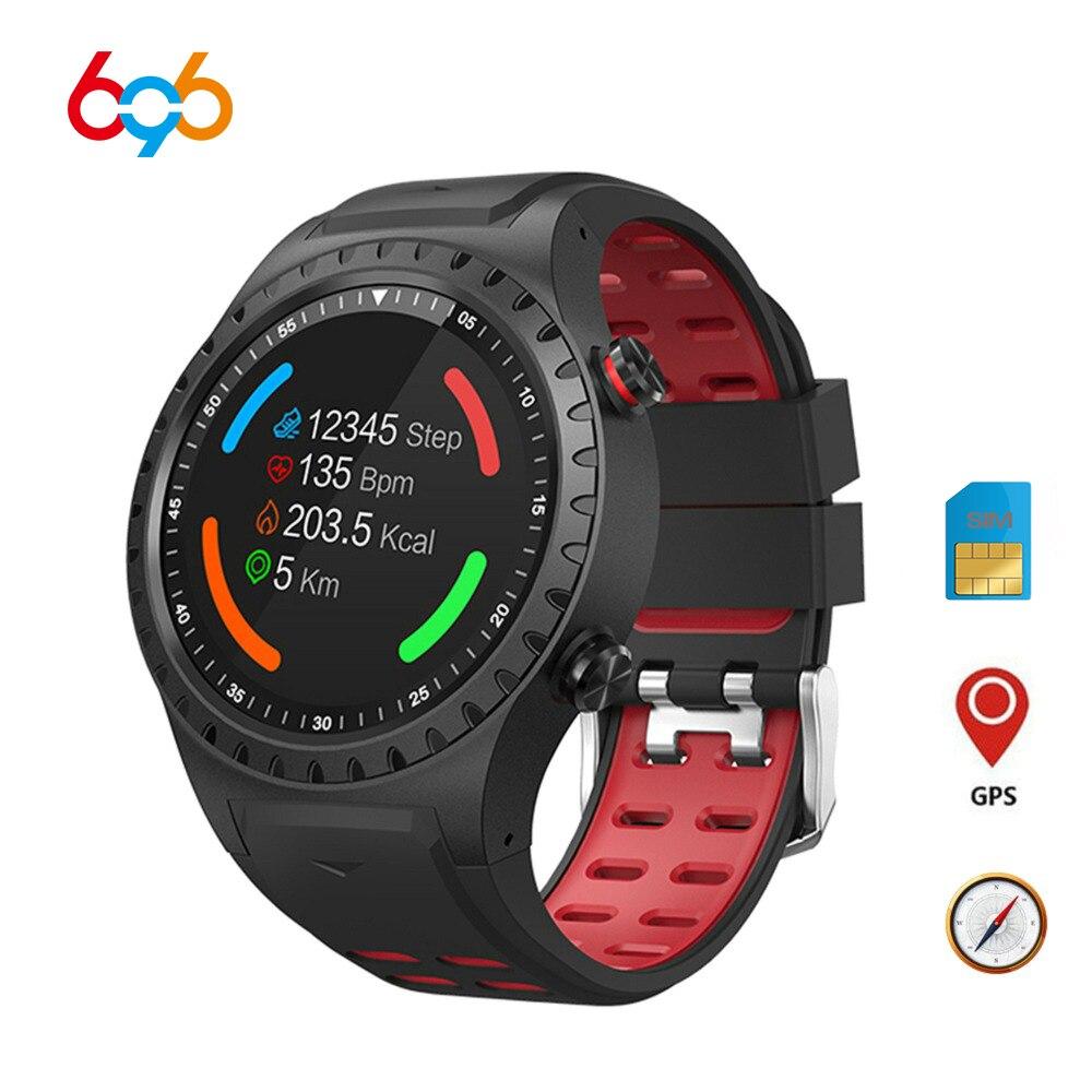Die 696 M1 smart watch unterstützt SIM karte bluetooth anruf kompass GPS uhr IP67 wasserdicht mehrere sport modus lange standby