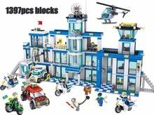 цена на Police headquarters Blocks 1397pcs Bricks Building Block Sets Classic Educational Toys For Children  QL0200