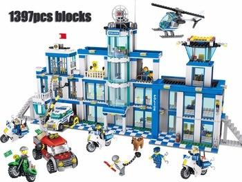 Police headquarters Blocks 1397pcs Bricks Building Block Sets Classic Educational Toys For Children  QL0200