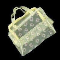 الأزهار طباعة شفافة للماء التجميل حقيبة أدوات الزينة الاستحمام الحقيبة