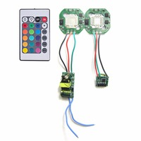 10W RGB SMD LED Light Lamp Parts IR Controller With 24 Key Remote Ouput 12V LED
