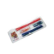 Бесплатная доставка Mix Kit 10pcsx14values = 140 шт. макет Джемпер 2/5/7/10/12/ 15/17/20/22/25/50/75/100/125 мм кабель Провода олово DIY