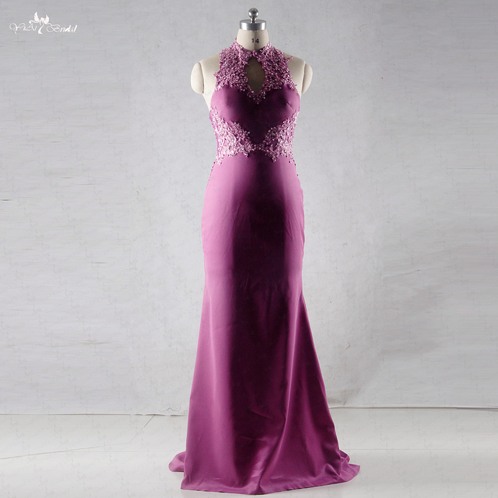 RSE696 Halter Neckline Backless Magenta Mermaid Evening Dress-in Evening  Dresses from Weddings   Events on Aliexpress.com  3bebc2aa9193