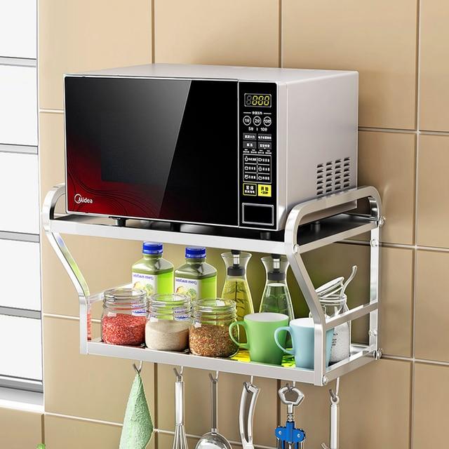 A1 304 edelstahl mikrowelle regal küche rack wand halterung ofen geräte  haken wx8151620