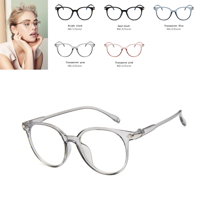 4e364159e9976 Glasses Frame Women Men Fashion Eyeglasses Frame Vintage eye glasses Round Clear  Lens Glasses Optical Spectacle