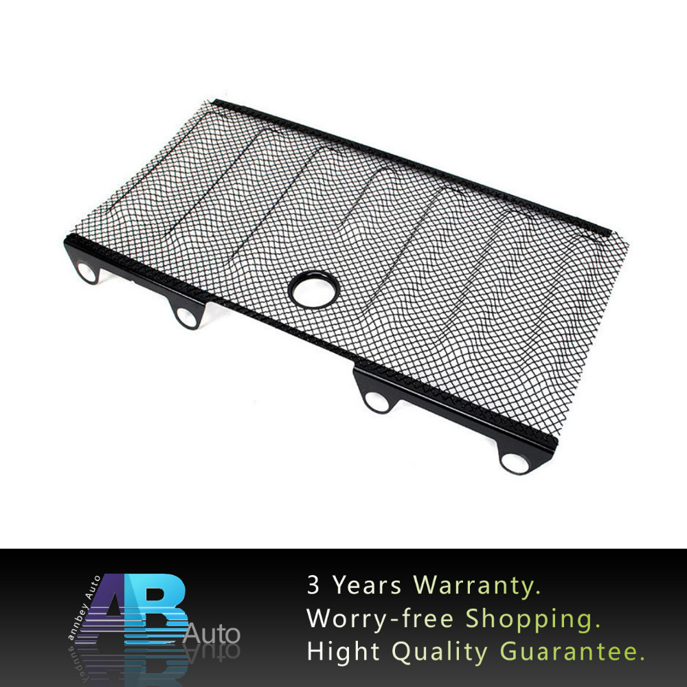 ФОТО 1 PC Black Front 3D Mesh Grill Racing Grille Insect Screening Trims With Lock Anti Insects Hole For Wrangler JK 2007-2016