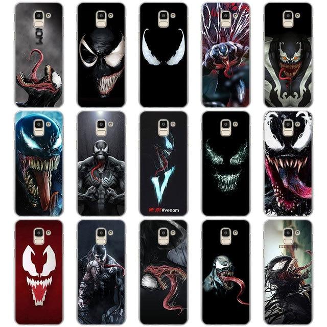 new product f42c9 a23b2 US $1.99 26% OFF|Marvel Venom Super Hero painting back case cover for  Samsung Galaxy J4 J6 Plus J8 2018 J2 J3 J4 J5 J6 J7 2018 Phone Cases-in ...