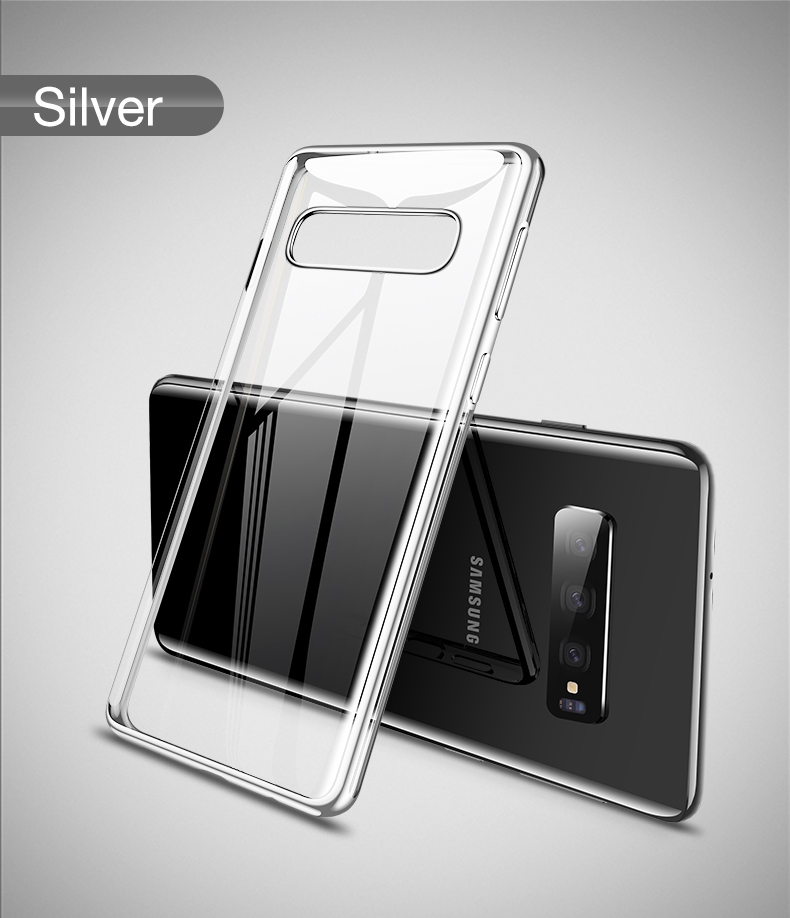 Cafele Plating Transparent Case for Samsung Galaxy S10 Plus S10e Cover Soft TPU Thin Silicon Case for Samsung S10 S10Plus S10e (13)