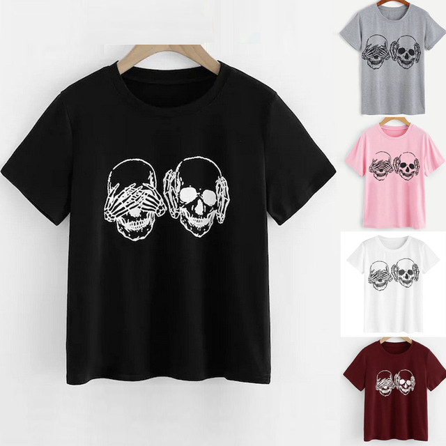 Unisex Skull T-Shirts 2 Colors  1