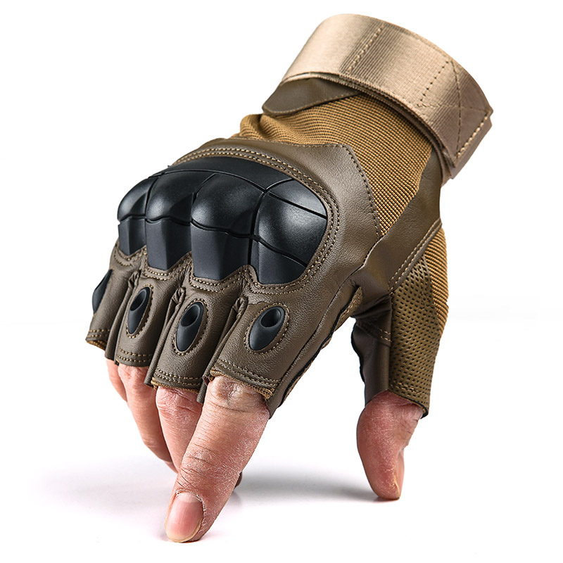 Tactical Hard Knuckle Half Finger Gloves Men's Army Military Combat Hunting Shooting Airsoft Paintball Fingerless Gloves