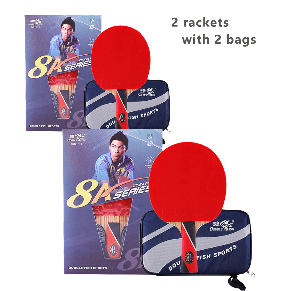 2pcs Original Double fish 8star 8A table tennis rackets racquet sports carbon blade fast attack loop for near break type players