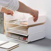 Office desktop storage box Stackable storage cabinet rack plastic file debris